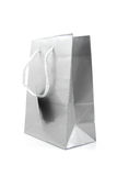 Grey paper shopping bag Stock Image