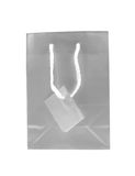 Grey paper shopping bag Stock Photos