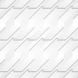 Grey paper tech shapes background Stock Photo
