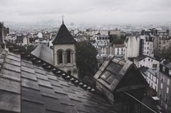 Grey Paris. Grey view from Sacre Coeur, Paris France Royalty Free Stock Photos
