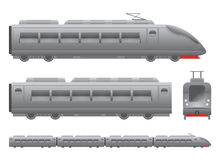 Grey Passenger train Royalty Free Stock Photo