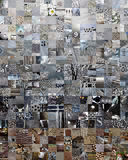 GREY patchwork photomontage background Royalty Free Stock Photography