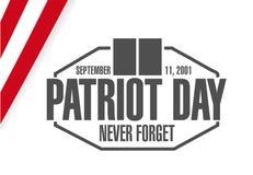 Grey patriot day seal stamp illustration design Stock Images