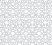 Grey Pattern floral géométrique avec le fond blanc Photos libres de droits