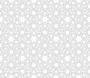 Grey Pattern floral géométrique avec le fond blanc Images stock
