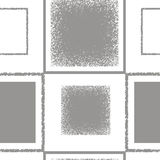 Grey pattern with squares Stock Photography