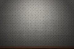 Grey patterned vintage wallpaper background.  stock image