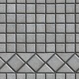 Grey Pave Slabs in the Form of Small Squares and Royalty Free Stock Images