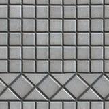 Grey Pave Slabs i form av små fyrkanter och Royaltyfria Bilder
