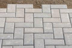 Grey paving stones background Stock Photo
