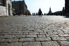 Grey paving stones  texture Stock Images