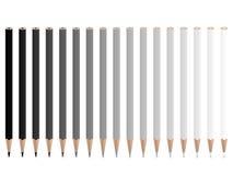 Grey pencils Stock Photo
