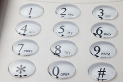 Grey phone keypad Stock Photo
