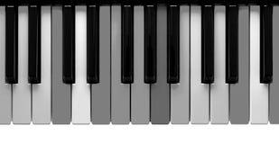 Grey piano keys Stock Photo