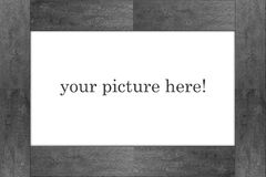 Grey picture frame - on white Royalty Free Stock Photography