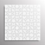 Grey Pieces Puzzle Figuurzaagbanner Vector stock illustratie