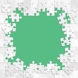Grey Pieces Puzzle Square Frame De banner royalty-vrije illustratie