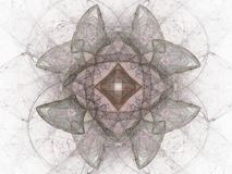 Grey pink abstract fractal with floral pattern Stock Images