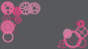 Grey pink gears vector illustration Royalty Free Stock Photo