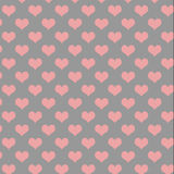 Grey and Pink Heart pattern Royalty Free Stock Photos