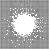 Grey pixel art banner Royalty Free Stock Images