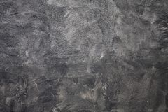 Grey Plaster Concrete Wall escuro fotografia de stock