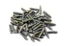 Grey Plastic Dowels Royalty Free Stock Image