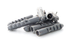 Grey plastic dowels Stock Photo