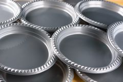 Grey Plastic Party Dinner Plate. stock photography
