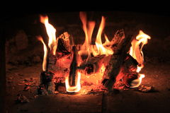 grey pożarniczy światło notuje drewno woodpile Zdjęcia Stock