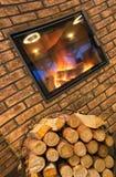 grey pożarniczy światło notuje drewno woodpile Obraz Royalty Free