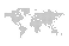Grey Political World Map Vector aisló el ejemplo Fotografía de archivo