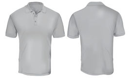 Grey Polo Shirt Template Fotos de Stock