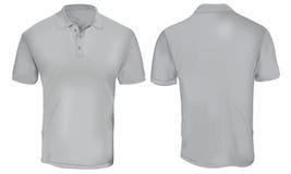 Grey Polo Shirt Template Stock Photos