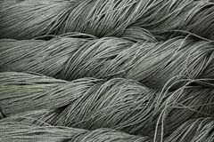 Grey polyester ropes Royalty Free Stock Photo