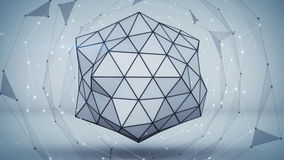 Grey polygon shape. Abstract 3D render Stock Image