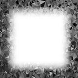 Grey Polygonal Background Configuration triangulaire Basse poly texture Conception moderne de mosaïque abstraite Style d'origami Illustration Libre de Droits