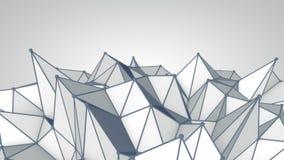 Grey polygonal 3D surface. Futuristic render Royalty Free Stock Photo