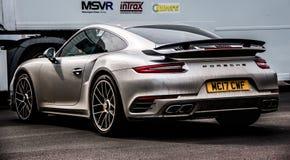 Grey Porsche 911 Turbo S 991 2 stockfotos
