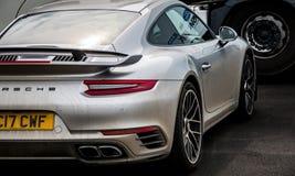 Grey Porsche 911 Turbo S 991 2 lizenzfreies stockbild