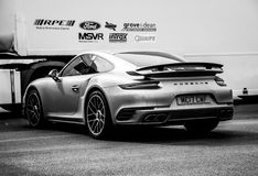 Grey Porsche 911 Turbo S 991 2 lizenzfreie stockbilder