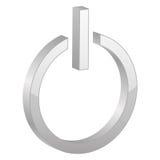 Grey power symbol Royalty Free Stock Image