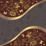 Grey and purple-gold frame Royalty Free Stock Image