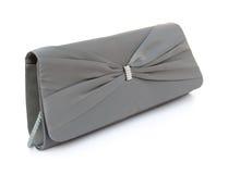 Grey purse Royalty Free Stock Photo