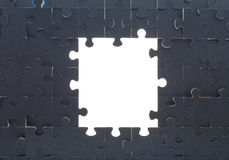 Grey puzzle background with empty space Royalty Free Stock Image