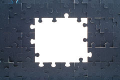 Grey puzzle background with empty space Royalty Free Stock Photos