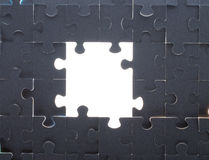 Grey puzzle background with empty space Stock Photography