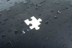 Grey puzzle background with empty space Royalty Free Stock Photography