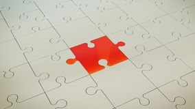 Grey Puzzle Floor With rojo Libre Illustration