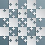 Grey Puzzle Pieces Blue Grey - JigSaw Field Chess. Grey Puzzle Pieces Blue Grey in a Square - JigSaw - Vector Illustration. Vector Background. Field for Chess Royalty Free Stock Image